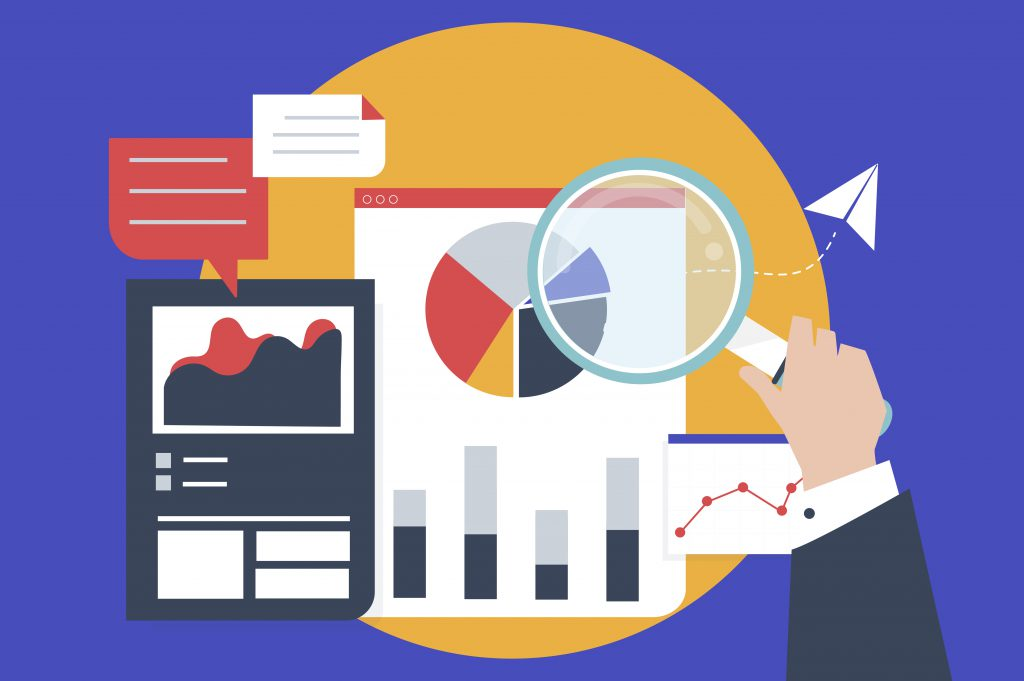 Ilustrações de gráficos de desempenho para otimizar os estudos.